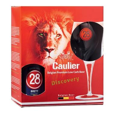 Coffret Biere Belgique Caulier 28 Triple 4x 0.33 6.75% + 1 Verre