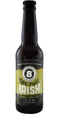 Biere Irlande 8 Degrees The Full Irish Single Malt Ipa 33cl 6%