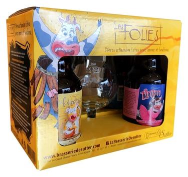 Biere France Normandie Coffret Les Folies De Sutter 4x33cl + 1 Verre 6.45%