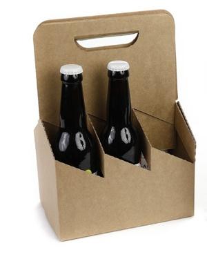 Panier Kraft Pour 6 Bieres 25/33/37.5/50 Cl
